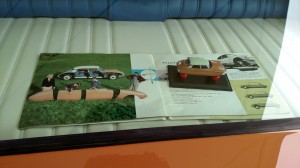 the brochure and car that the display was modeled after